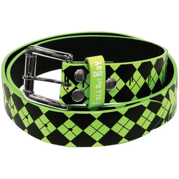 Fall Out Boy - Fallgyle Logo Leather Belt