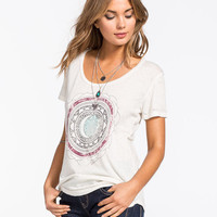 O'neill Moon Medallion Womens Tee White  In Sizes