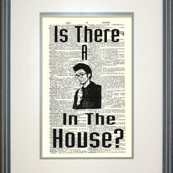 Doctor Who Print on Vintage Book Page by Papyrusaurus, Whovian, Fan Art, Nerd Print, Tenth Doctor
