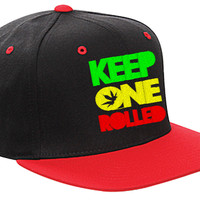 Keep One Rolled Snapback Hat