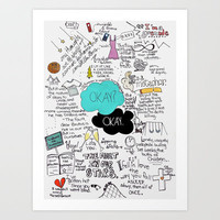 The Fault in Our Stars- John Green Art Print by Natasha Ramon