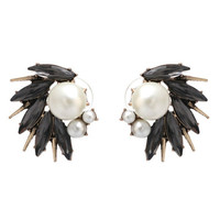 Milena Statement Earrings - Gray