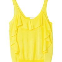 TANK TOP WITH RUFFLES - T - shirts - Woman | ZARA United States
