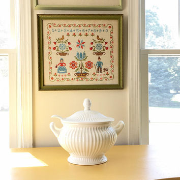 Classic White Footed Soup Tureen