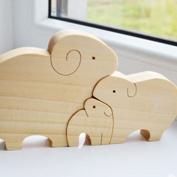 Animal puzzle - Wooden sheeps family - Puzzle Toy - Wooden Puzzle sheep - Educational toys - Kids gifts