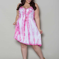 Lana Tie Dye Plus Size Dress