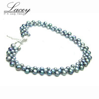 LACEY Freshwater pearl necklace jewelry for women,real natural pearl necklace fine jewelry wife mother birthday gifts