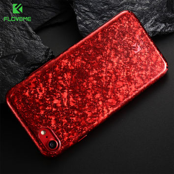FLOVEME Cracked Ice Pattern Phone Case For iPhone 7 Plus 6 6S Phone Case Glitter Bling Hard Plastic Cases For iPhone 7 6 6S Plus