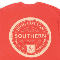 High Cotton | Southern Through & Through Pocket Tee - Red Coral