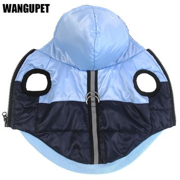Warm cotton dog coat Reflective jacket Waterproof winter thick Dog clothes Puppy chihuahua hoodies Vest for small dog Cat vest
