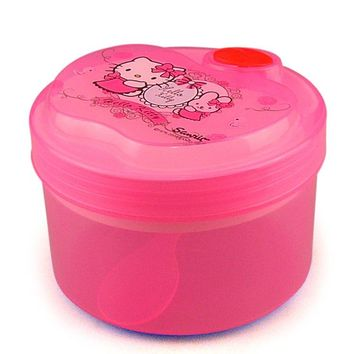 Hello Kitty Kids Lunch Box Fruit Snack Bowl For Kids Cartoon Bento Microwave Picnic Schol Lunch Box