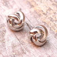 Knot Studs- Silver