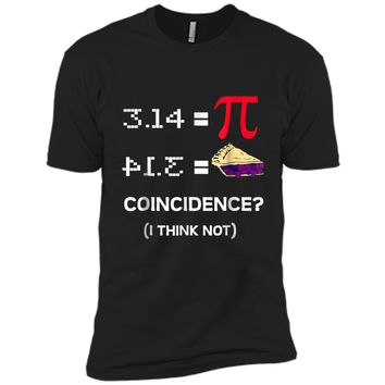 Pi Equals Pie Funny Math Pun Pi Day  Next Level Premium Short Sleeve Tee