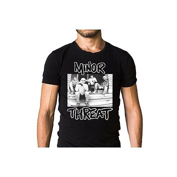 "MINOR THREAT Punk Rock Band ""Salad Days"" 1985 Compilation Album Cover Men's T shirt"