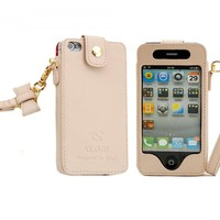 Iphone 4/5 Leather Case (good Quality) pink,iphone 4s leather case