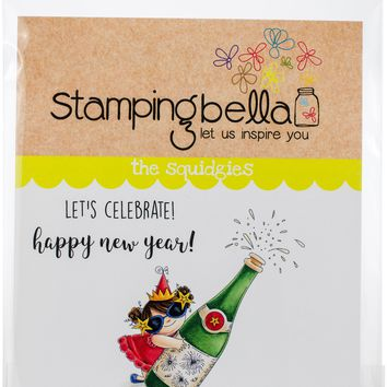 Stamping Bella Cling Stamps-Celebrating Squidgy