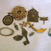 Vintage and new jewelry findings for assemblage jewelry crafting DeStash