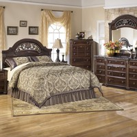 Gabriela 3 Pc. Bedroom - Dresser, Mirror & Queen Panel Headboard