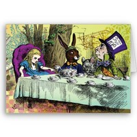 Mad Hatter's Tea Party Card from Zazzle.com