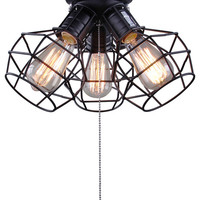 Clustered Ceiling Fixture - Industrial - Flush-mount Ceiling Lighting - by LNC Lighting