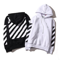 Hot Real Off White Hoodie With the Off-white Tags Exo GD Religious Fleece Hoodie Sweatshirts Cotton