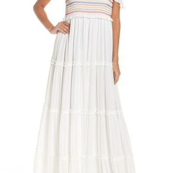 Tory Burch Smocked Cover-Up Maxi Dress | Nordstrom