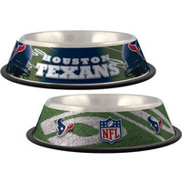 Houston Texans Stainless Dog Bowl