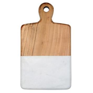 Artisanal Kitchen Supply™ 13-Inch Acacia and Marble Cheese Board