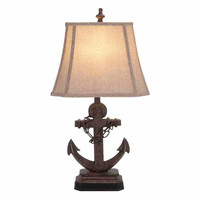 95765 Polystone Anchor Table Lamp Corner