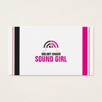 Sound Girl (2d) Business Card