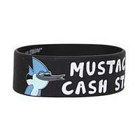 Regular Show Mustache Cash Stash Rubber Bracelet - 167362