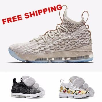 (With box) 2017 Ashes Ghost Lebron 15 Basketball Shoes Lebron shoes Arrival LBJ Sneakers 15s Mens Casual Shoes James 15 40-46