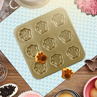 9 cups Nonstick Muffin Cake Pan Dessert form for Cat's Paw Carbon Steel Baking Dessert Kitchen Appliances NEW Mould Cooking