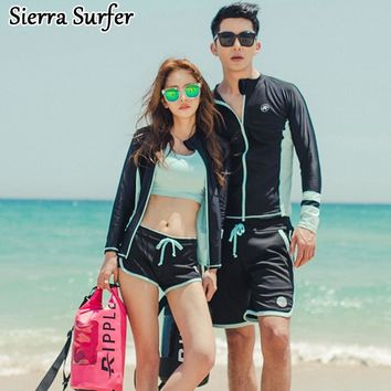 Surf Swimwear Women Windsurf Rashgard Cheap Sexy Bathing Suits Lycra Wetsuit 2018 Zipper Men Long Sleeve Suit Lovers Maillot De
