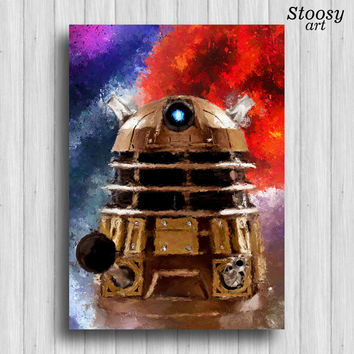 Dalek poster doctor who print