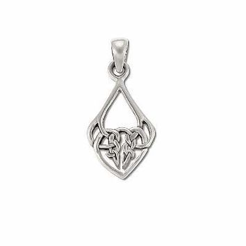 Sterling Silver 925 Celtic Filigree Charm Pendant