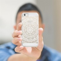 White Mandala Lace Pattern iPhone 5s case by Laurel Mae | Casetify