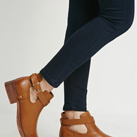 Buckled Ankle-Strap Booties