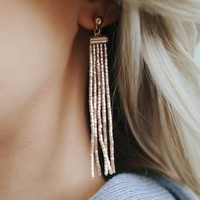 CHAMPAGNE POP EARRINGS - ROSE GOLD