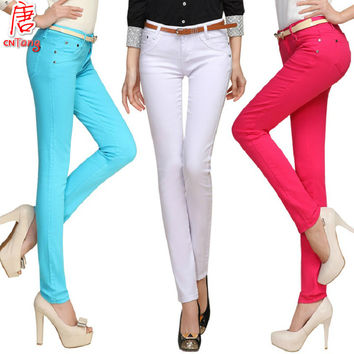 women pants Candy color women's pants & capris 2015 summer skinny pencil FASHION pantalon femme trouser casual Trouser for women