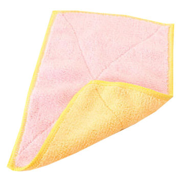 Set of 4 Bamboo Fiber Cleaning Cloth Eco Kitchen Dish Cloth Pink and Yellow