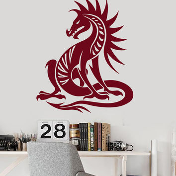 Vinyl Wall Decal Chinese Dragon Mythical Creature Kids Room Stickers Unique Gift (ig233)