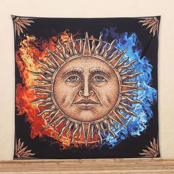 2017 Hot Sun Pattern Indian Elephant Mandala Hippie Wall Hanging Tapestry Gypsy Bedspread Throw New Tapestry