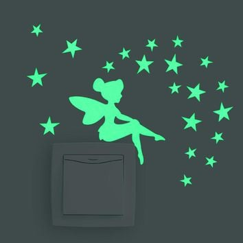 Tinkerbell Glow In The Dark Wall Decal