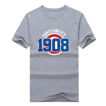 "Chicago Cubs Anthony Rizzo ""Party like its 1908"" T-shirt  Fashion T SHIRT 1022-6"