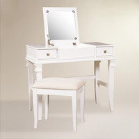 White Kari Vanity Set - World Market
