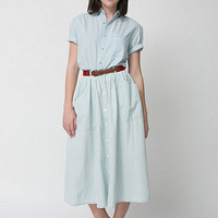 American Apparel - Button Up Long Denim Skirt