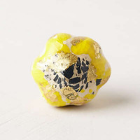 Anthropologie - Gold-Flecked Blossom Knob