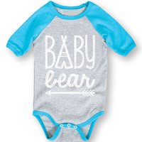 Athletic Heather & Turquoise 'Baby Bear' Bodysuit - Infant