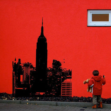 Empire state building Skyline NY New York Wall Mural Decal vm48